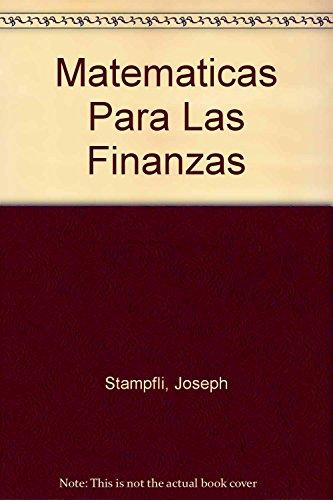 9789706861429: Matematicas Para Las Finanzas (Spanish Edition)