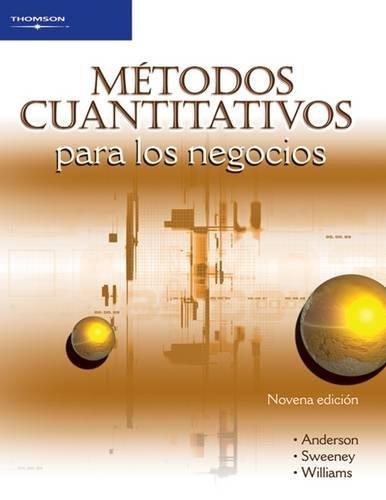 9789706863720: metodos cuantitativos para los negocios/ Quantitative Methods For Business (Spanish Edition)