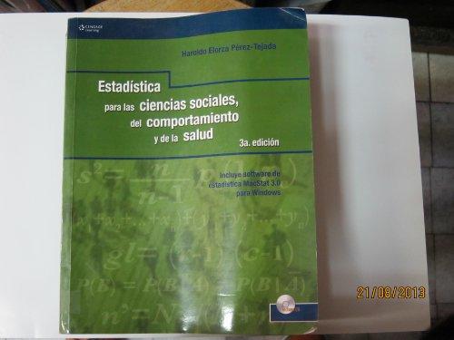 Estadistica para ciencias sociales, del comportamiento y: Elorza Perez Tejada,