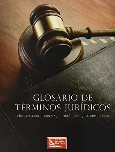 9789708172660: GLOSARIO DE TERMINOS JURIDICOS