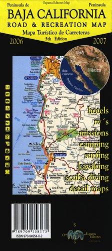 9789709495409: Baja California Peninsula Road & Recreation Map (Spanish and English Edition)