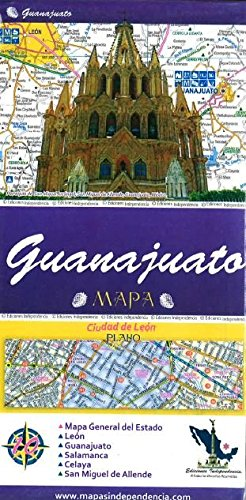 9789709811094: Guanajuato, Mexico, State and Major Cities Map (Spanish Edition)