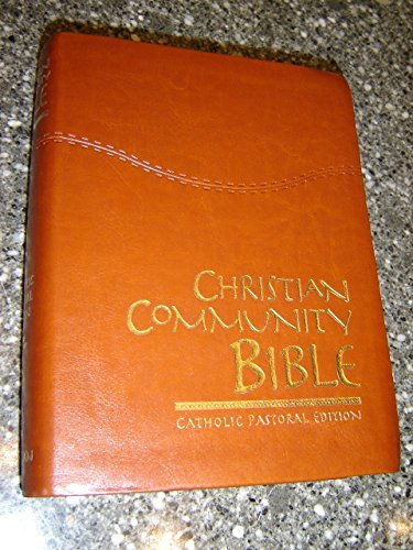 9789710511518: Christian Community Study Bible - Catholic Pastoral Edition / Beautiful Luxury Leather Bound with Golden Edges and Thumb Index / Forty-eight Edition / Introductions and Commentaries Included