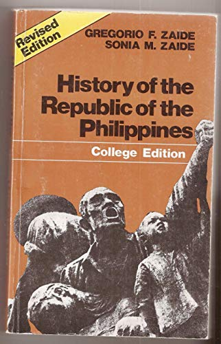 9789710803576: History of the Republic of the Philippines