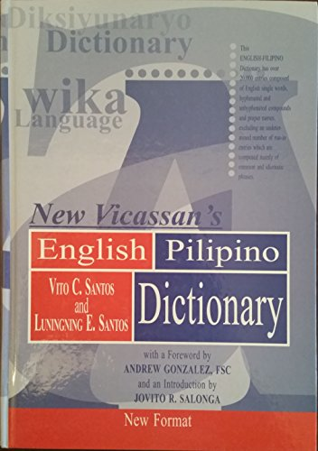 9789712703492: New Vicassan's English-Pilipino dictionary
