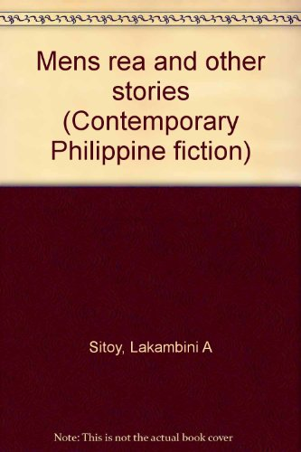 9789712706929: Mens rea and other stories (Contemporary Philippine fiction)