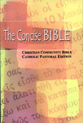 9789715019392: Concise Bible: Christian Community Catholic Edition