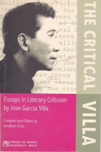 9789715504164: The Critical Villa: Essays in Literary Criticism
