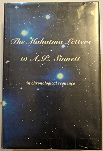 The Mahatma Letters to A. P. Sinnett in chronological sequence: Chin, Vincente Hao (Editor)