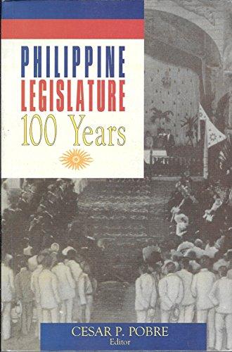 9789719224501: Philippine Legislature: 100 Years
