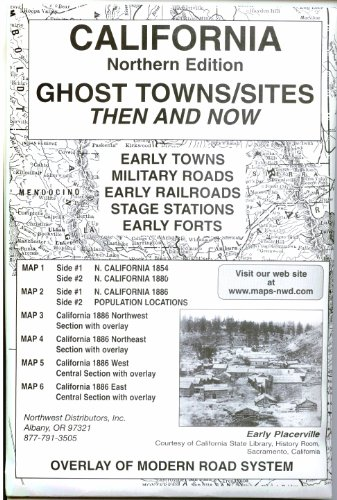 California, North Ghost;Towns 6 Maps Then &: Preston, M.L