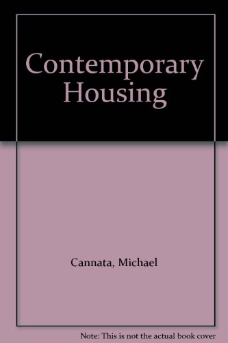 Contemporary Housing (Paperback): Michael Cannata, Fatima