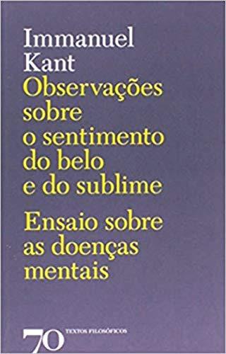 9789724416960: Observações sobre o Sentimento do Belo e do Sublime (Portuguese Edition)