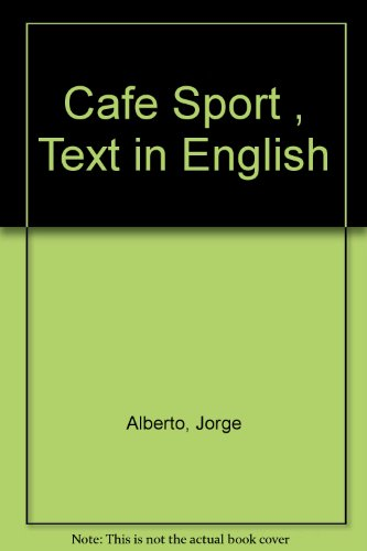 9789725642306: Cafe Sport , Text in English
