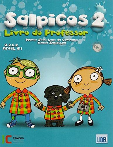 9789727575701: Salpicos - Portuguese Course for Children: Livro Do Professor 2 + CD