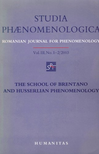 9789735005641: Studia Phaenomenologica, Vol. 3, No. 1-2/2003, The School of Brentano and Husserlian Phenomenology (English, French and German Edition)