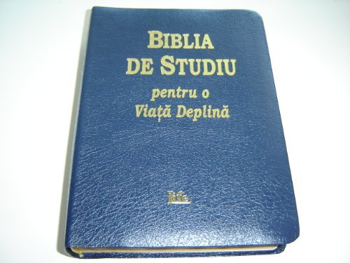 9789739870658: Biblia De Studiu pentru o Viata Deplina / The Full Life Study Bible in Romanian Language Edition / Versiunea D. Cornilescu / Blue Leather Bound, Golden Edges with Thumb Index / Concoradnce, Color Maps