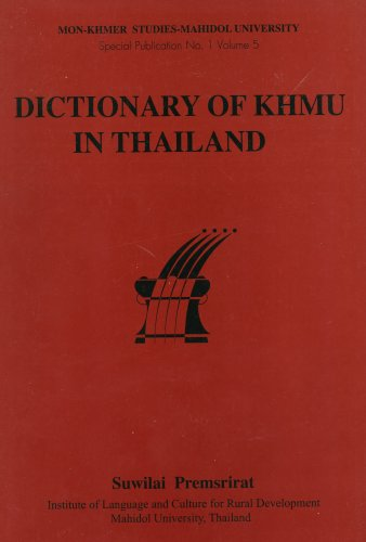 9789740501107: Dictionary of Khmu in Thailand (Mon-Khmer Studies, Special Publication, No. 1, Volume 5)