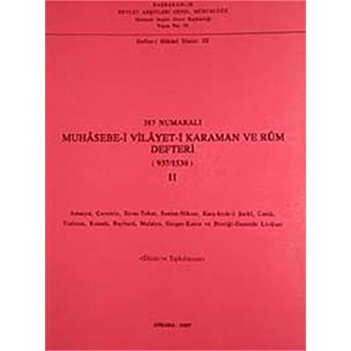 387 numarali muhasebe-i vilayet-i Karaman ve Rum: TC BASBAKANLIK DEVLET