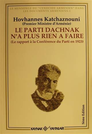 9789753434584: Le Parti Dachnak Na Plus Rien a Faire