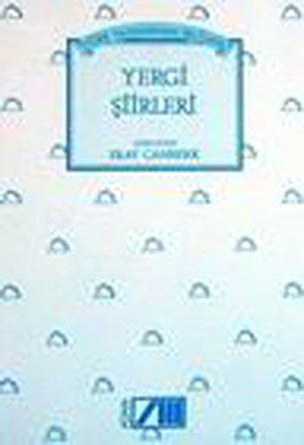 9789754182200: Turk yazinindan secilmis yergi siirleri (Turkish Edition)