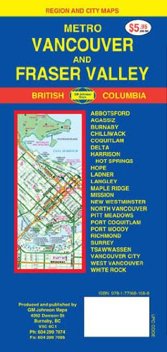 9789770681084: Vancouver 1:40,000 Street Map & Fraser Valley (BC, Canada)<