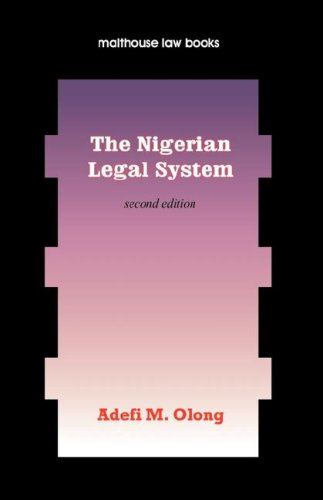 9789780232276: The Nigerian Legal System. Second Edition