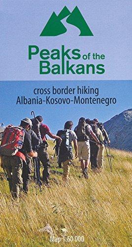 9789783943759: Albania – Kosovo – Montenegro 1:60,000 cross border hiking map HU