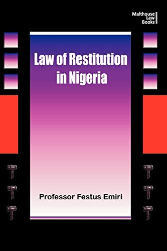 The Law of Restitution in Nigeria: Festus Emiri