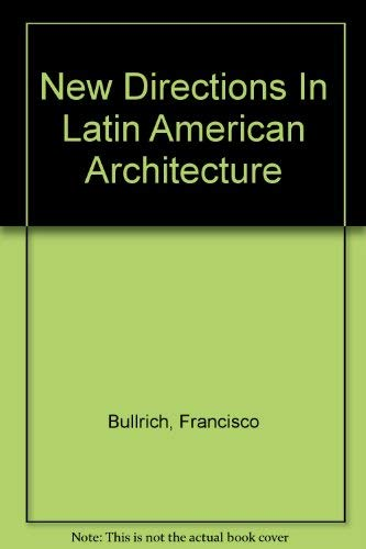9789787185698: New Directions In Latin American Architecture