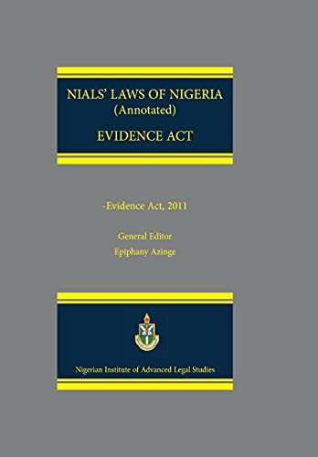 9789788431633: NIALS Laws of Nigeria. Evidence Act 2011