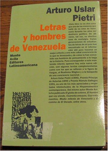 9789800108390: Letras y hombres de Venezuela