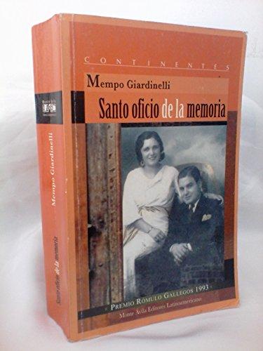 9789800116364: SANTO OFICIO DE LA MEMORIA