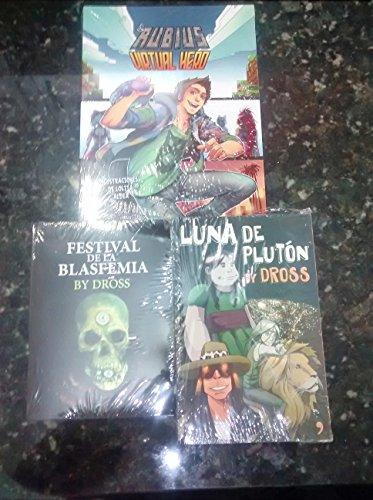 9789802715763: Luna de Plutón, El festival de la blasfemia y Virtual hero (Pack Rubius y Dross)