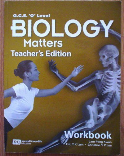 """Work Book-teacher.s Edition (G.C.E. """"O"""" Level Biology: kwan, Lam Peng"""