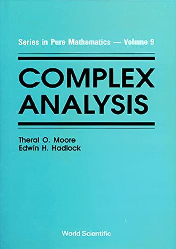 Complex Analysis: Hadlock, Edwin H.