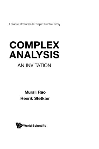 9789810203764: Complex Analysis: An Invitation