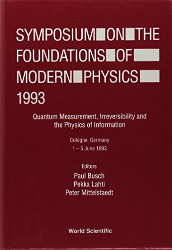 9789810215071: The Foundations of Modern Physics: Proceedings of the Symposium