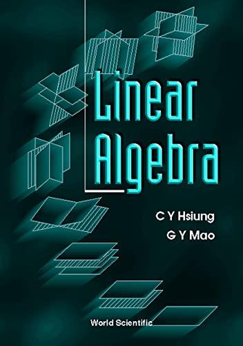 9789810230920: Linear Algebra