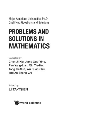 Problems And Solutions In Mathematics (Major American: Ta-Tsien, Li