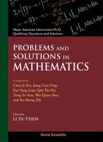 Problems and Solutions in Mathematics: Chen Ji-Xiu ,
