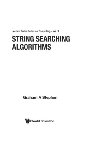 9789810237035: String Searching Algorithms (Lecture Notes Series on Computing)