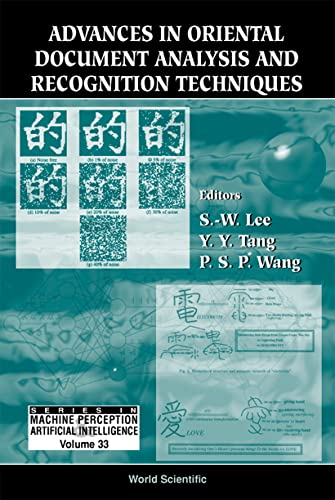 9789810237448: Advances in Oriental Document Analysis a (Machine Perception & Artificial Intelligence)