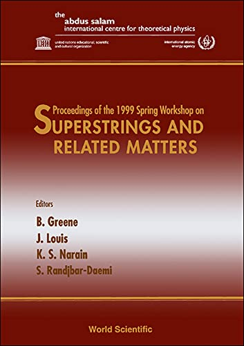 9789810241377: Superstrings and Related Matters: Proceedings of the 1999 Spring Workshop