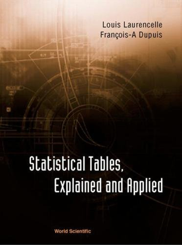 Statistical Tables, Explained and Applied: Dupuis, Francois-A
