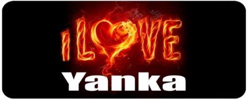 Personalised Printed Coffee MUG - i Love Yanka