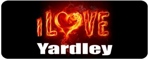 Personalised Printed Coffee MUG - i Love Yardley