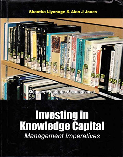 Investing in Knowledge Capital: Management Imperatives Shantha Liyanage and Alan J. Jones