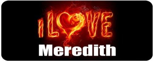 Personalised Printed Coffee MUG - i Love Meredith: n/a