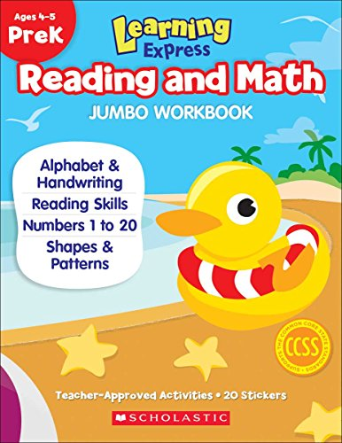 9789810775827: Learning Express Reading and Math Jumbo Workbook PreK